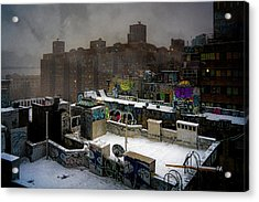 Chinatown Rooftops In Winter Acrylic Print