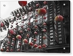 Chinatown San Francisco Acrylic Print by Larry Butterworth