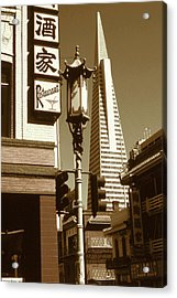 Chinatown San Francisco - Vintage Photo Art Acrylic Print