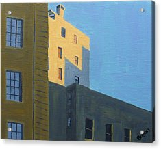 Chinatown Shadows Acrylic Print by Laurie Breton