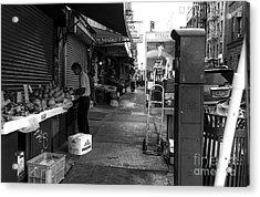 Chinatown Street Mono Acrylic Print
