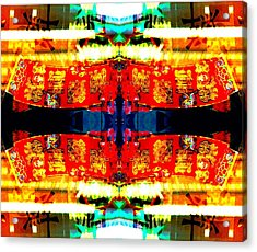 Acrylic Print featuring the photograph Chinatown Window Reflection 5 by Marianne Dow
