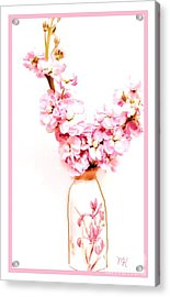 Acrylic Print featuring the digital art Chinese Bouquet by Marsha Heiken