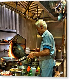 Chinese Chef Acrylic Print by William Wetmore