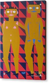 Chinese Couple Walking Acrylic Print by Neil Trapp