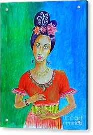 Chinese Dancer -- The Original -- Portrait Of Asian Woman Acrylic Print
