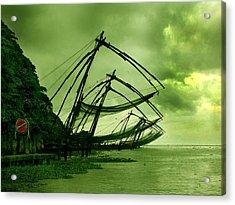 Chinese Fishing Net Acrylic Print by Farah Faizal
