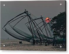 Chinese Fishing Nets, Cochin Acrylic Print by Marion Galt