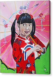 Chinese Girl Acrylic Print by Andrea Realpe
