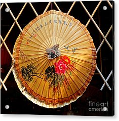 Acrylic Print featuring the photograph Chinese Hand-painted Oil-paper Umbrella by Yali Shi