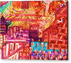 Chinese If You Please New Year Acrylic Print by Anne-Elizabeth Whiteway