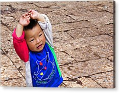 Chinese Boy Joy Acrylic Print