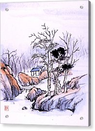 Acrylic Print featuring the painting Chinese Landscape by Yolanda Koh