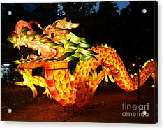 Acrylic Print featuring the photograph Chinese Lantern In The Shape Of A Dragon by Yali Shi