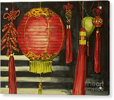 Chinese Lanterns No. 1 Acrylic Print