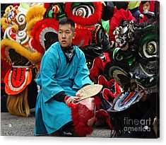 Chinese New Year Lion Dancers, Chinatown, Boston, Massachusetts, 2016 Acrylic Print
