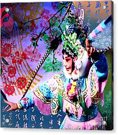 Chinese Opera  Acrylic Print by Stacey Chiew