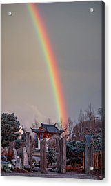 Chinese Reconciliation Park Rainbow Acrylic Print