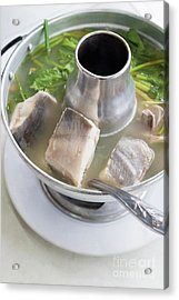 Acrylic Print featuring the photograph Chinese Silver Pomfret Soup by Atiketta Sangasaeng
