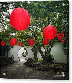 Chinese Tea Garden In Portland, Oregon Acrylic Print