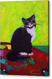 Ching - The Studio Cat Acrylic Print by Valerie Aune