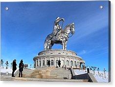 Chinggis Khan Statue/tsagaan Sar Acrylic Print