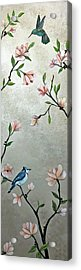 Chinoiserie - Magnolias And Birds Acrylic Print
