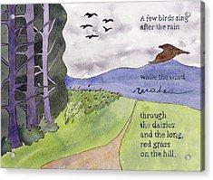 Chip Ross Park Walk Acrylic Print by Alexandra Schaefers