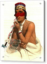 Acrylic Print featuring the photograph Chippeway Chief 1836 by Padre Art