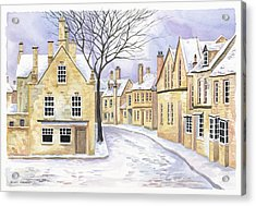 Chipping Campden In Snow Acrylic Print by Scott Nelson
