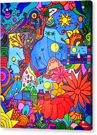 Chitchat Acrylic Print by MikAn 'sArt