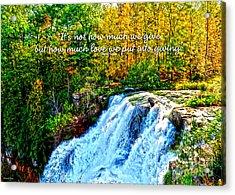 Chittenango Falls, Ny Mother Teresa  Acrylic Print by Diane E Berry