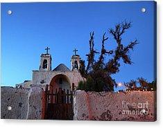 Chiu Chiu Church At Twilight Chile Acrylic Print by James Brunker