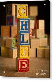 Chloe - Alphabet Blocks Acrylic Print by Edward Fielding