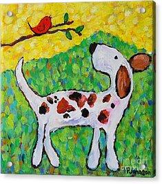 Chloe And Little Bird Acrylic Print
