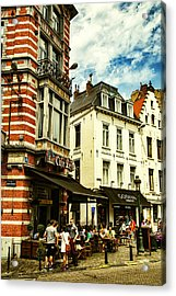 Chocolate And Beer In Brussels Acrylic Print by Georgia Fowler