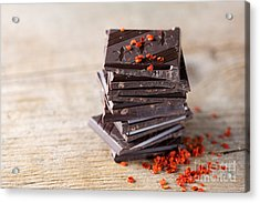 Chocolate And Chili Acrylic Print by Nailia Schwarz