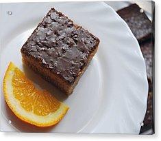 Chocolate And Orange Acrylic Print by Marija Djedovic