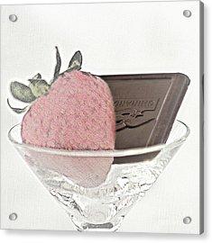 Chocolate And Strawberry Martini Acrylic Print
