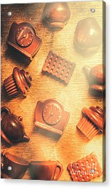 Chocolate Cafe Background Acrylic Print by Jorgo Photography - Wall Art Gallery