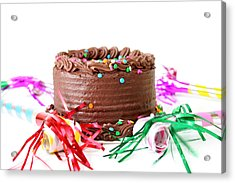 Chocolate Cake Acrylic Print by Darren Fisher