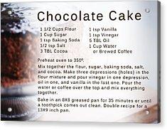 Chocolate Cake Recipe Acrylic Print