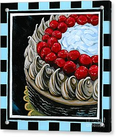 Chocolate Cake With A Cherry On Top Acrylic Print