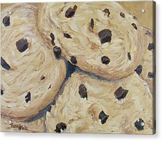 Acrylic Print featuring the painting Chocolate Chip Cookies by Nancy Nale