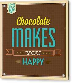 Chocolate Acrylic Print by Naxart Studio