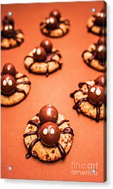 Chocolate Peanut Butter Spider Cookies Acrylic Print by Jorgo Photography - Wall Art Gallery