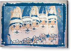 Acrylic Print featuring the photograph Chocolate Santas by Bellesouth Studio