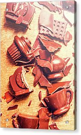 Chocolate Tableware Destruction Acrylic Print by Jorgo Photography - Wall Art Gallery