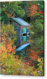 Chocorua Boathouse Acrylic Print