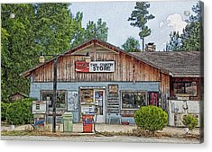 Choctaw Bluff Country Store Acrylic Print by Ericamaxine Price